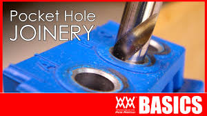 beginner u0027s guide to pocket hole joinery woodworking basics youtube