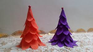 Christmas Crepe Paper Decorations by Diy Paper Crafts Christmas Decoration How To Make Crepe Paper