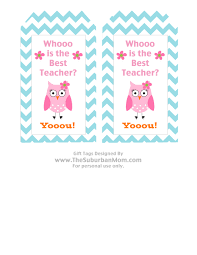 teacher appreciation basket u0026 free owl printable tag thesuburbanmom