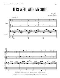 it is well with my soul piano duet