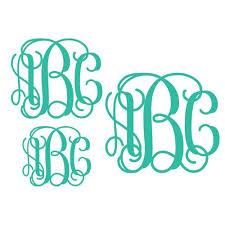 3 letter monogram 3 letter monogram decals initial car window monogram decals