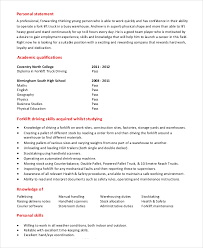 Truck Driver Resume Sample by Forklift Resume Template 6 Free Word Pdf Document Downloads