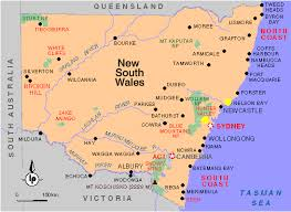 map of new south wales maps of new south wales
