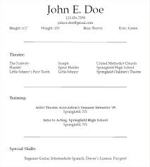 beginner resume template free actors resume template for beginners resume templates for