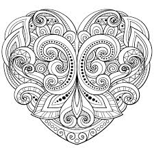 love heart coloring hearts love coloring pages adults