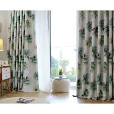Long Living Room Curtains Floral Print Polyester Insulated Country Long Bedroom Or Living