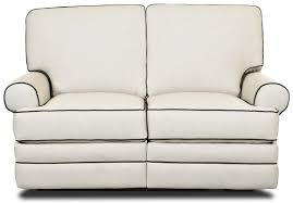 White Leather Loveseats Furniture Leather Loveseat Recliner For Casual Seating In Your