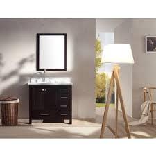 Espresso Vanity Table Design Element London 36 Inch Single Sink 4 Drawer Espresso Vanity