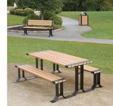 Park Bench And Table Picnic Tables Sense Of Site Upbeat Com