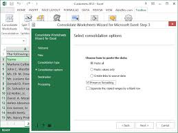 merge multiple excel worksheets into one consolidate worksheets