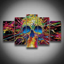 Canvas Painting For Home Decoration by Aliexpress Com Buy Framed Printed Europe Style Skull Designs