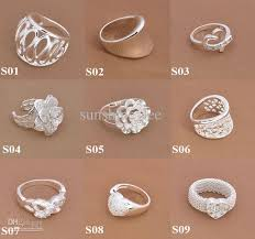 new jewelry hot sale 925 silver jewelry fashion multi styles finger rings new