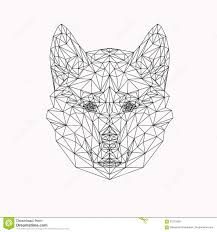 banner coloring pages vector dog in thin line style abstract low poly animal wolf face