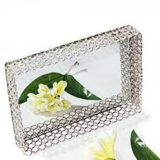 Crystal & Mirror Decorative Serving Tray