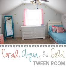 Coral Aqua Bedroom Coral Aqua And Gold Tween Room