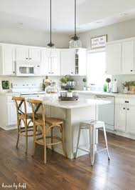 kitchen style white kitchen appliances rattan bar stools hardwood
