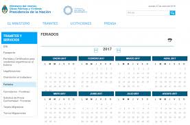 Calendario 2018 Argentina Ministerio Interior Calendario 2017 Feriados Puente Y Más Findes Largos