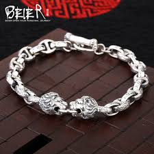 man silver link bracelet images Lion head man bracelet lbeier 925 sterling silver bracelet link jpg