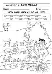 farm animals worksheet by maria elena chavarria jimenez