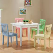 70s Bedroom Furniture Modern 5pc Dining Table Kids U0027 Bench Youth Seating Children Bedroom