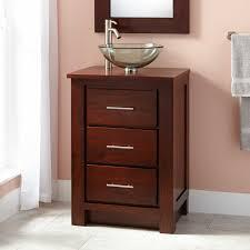 Small Bathroom Storage by Bathroom Glass Bowl Sink Feat Dark Brown Wood Narrow Depth