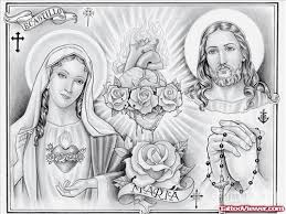 mother mary and jesus tattoo design tattoo viewer com
