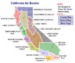 california map desert region california s air basins zero resource
