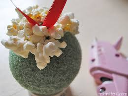 gift basket inspiration how to make a popcorn ornament