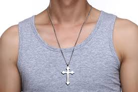 long mens necklace images Long chains gold silver eastern orthodox cross necklace pendant jpg