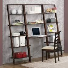 Leaning Ladder Desk by Sawyer Mocha Leaning 24 5