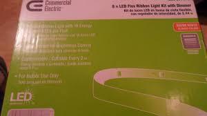 commercial electric led flex ribbon light kit commercial electric 1000034543 8 led flex ribbon light kit 374002