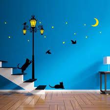 street light glow in the dark wall stickers lazada malaysia