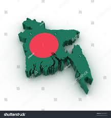 Map Of Bangladesh Three Dimensional Map Bangladesh Bangladesh Flag Stock