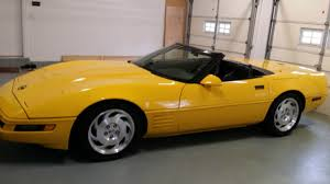 black and yellow corvette 1994 chevrolet corvette yellow convertible 6 speed manual black