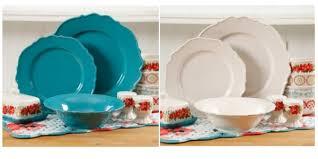 walmart the pioneer vintage ruffle 20 dinnerware sets