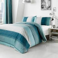 Dunelm Mill Duvets 16 99 Teal Finley Collection Duvet Cover Set Dunelm 1