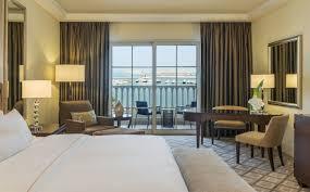 sea view living room deluxe sea view room beach hotel in dubai the westin dubai
