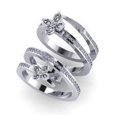 diamonds rings images Interlocking bridal ring set butterfly diamonds ring conka png