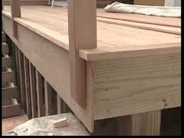 Install Banister Installing Cedar Deck Railings Youtube Decks Pinterest