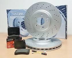 mercedes c class brake discs for mercedes c class w203 front platinum drilled brake discs pads