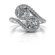two diamond ring kaitlyn two halo diamond ring