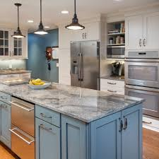 great kitchen colors trends for grey and blue color of kitchen