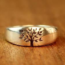 alternative wedding rings tree of wedding ring in sterling silver men s wedding band