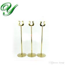 2017 table number holder gold card stand silver wedding place card