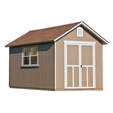 handy home products meridian 8 ft x 12 ft wood storage shed with