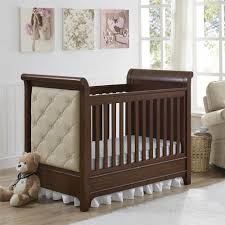 Dark Wood Cribs Convertible by Dorel Living Pembrooke 3 In 1 Upholstered Convertible Crib