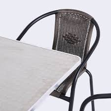 Kensington Bistro Chair Greenfingers Kensington 4 Armchair 70cm Square Bistro Set On Sale