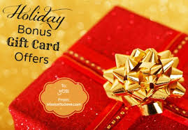 gift card offers tis the season for bonus gift card offers mission to save