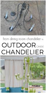 Dining Room Candle Chandelier by Diy Outdoor Chandelier How To Make A Candle Chandelier