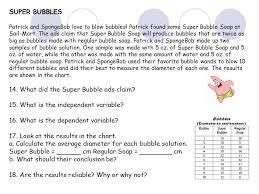 spongebob variables worksheet the best and most comprehensive